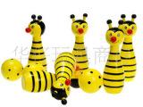 卡通儿童动物保龄球 黄色小蜜蜂 木制益智玩具有四款