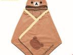 【爆款】广州外贸家居百货 保暖宅人盖毯 轻松小熊披肩 毛绒玩具