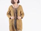 2014秋装新款女装 外贸原单女式针织衫 品牌女中长款针织衫外套
