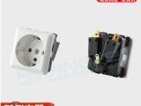 欧标AC插座多功能德式插座德规电器接线插座