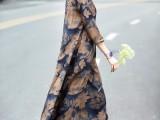 广州伊曼品牌米谷儿香芸纱妈妈装折扣走份批发