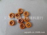 供应原木纽扣,两眼木头纽扣,圆边木扣 彩绘木扣diy 现货24小
