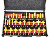 波盾精工 35PC木工铣刀套装 35件木工锣刀组合 木工刀具 雕