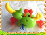 儿童婴儿玩具跳跳螃蟹 玩具蟹 发条玩具毛毛虫机器人批发