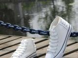 2012秋季新款申马高帮后系带帆布鞋男鞋
