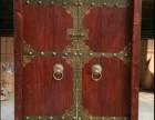 实木进户门庭院双开门榆木大门仿古中式木门
