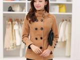 2014秋冬韩版双排扣外套 外套 毛呢外套呢大衣 短款呢子大衣