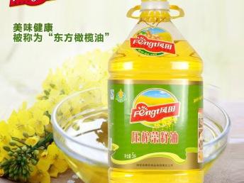 风田 压榨菜籽油 5L 菜籽油 植物油 食用油 健康营养 非转基因