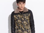 2014新款男士外套 男式毛领棉衣 男装外套修身保暖棉袄棉服韩版