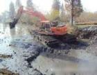长春市农安县神钢215湿地挖掘机出租水上挖机出租