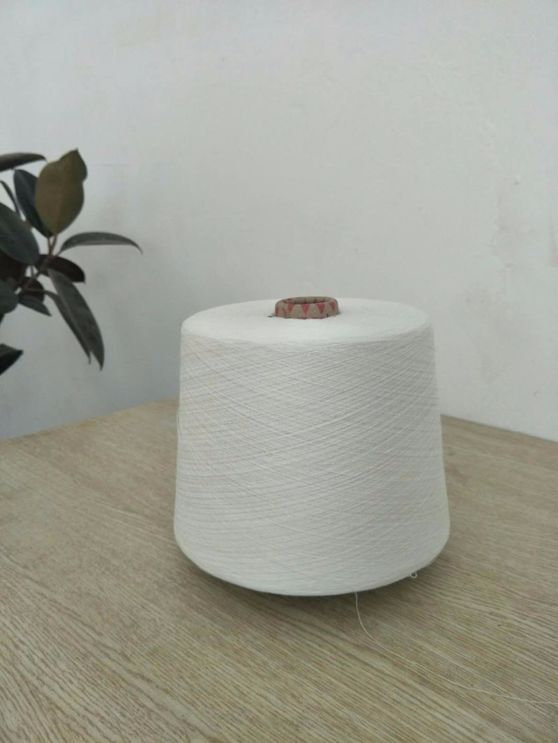 仿大化涤纶纱本白高强型5-60支纯涤纱