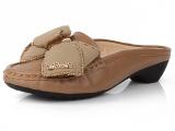 2014春季新款单鞋平跟蝴蝶结居家休闲包头拖鞋大码40-43女凉