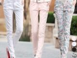 2014新款棉麻女裤哈伦裤韩版显瘦长裤潮女士休闲小脚铅笔裤子