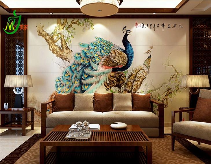热销室内装饰品厂家推出花鸟类背景墙诚招