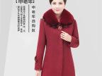 2014新款中老年女装秋冬装毛领毛呢外套中年妈妈装羊绒大衣大码