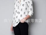 2013早春新款个性虎头时尚人棉印花女士