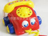 益智婴儿拖拉玩具 仿真响铃电话机 宝宝手拉电话车数字玩具 670