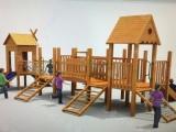 厂家直销木质组合滑梯 幼儿园滑梯原木拓展设施 户外公园攀爬架