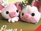 厂家直供 日本动漫周边 piggygirl 皇冠小猪公交卡套 小猪零钱包