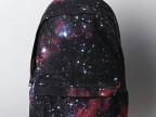 厂家直销 日本品牌数码印花星空铆钉背包 休闲帆布真皮双肩包