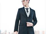 2014秋装简约时尚中长款修身男士风衣 高端商务休闲大衣羊毛呢