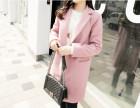 聊城最低价冬季女装棉服批发山东韩版修身中长款加厚呢子大衣批发