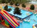 大型移动水上乐园设备,支架游泳池,水滑梯厂家直销