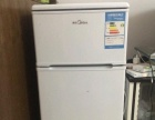 美的BCD双门冷冻+冷藏家用小冰箱