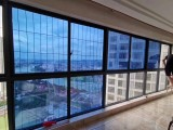 承接別墅陽光房玻璃貼膜防曬隔熱膜單透膜安裝
