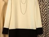 韩国代购新款秋装OL气质显瘦拼接长袖连衣裙格子韩版修身裙子