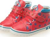 正品童鞋上海笨笨熊 时尚可爱波点装饰高帮儿童鞋 厂家直销B130