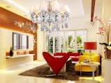 精美时尚卧室吊灯LED欧式现代水晶吊灯蜡
