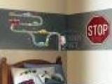 儿童卡通墙贴玩具卡车儿童房贴纸-卧室卡通背景墙贴-贴画TC208