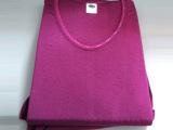 厂家直销 女士 玫红色 秋装套装  纯棉内衣 批发 接订单 订做