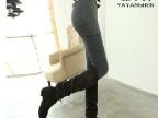 雅羊人秋装外穿女士打底裤春秋款包臀假两件韩版潮显瘦长裤裙裤子