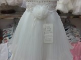 韩版外贸 儿童连衣裙 宝宝公主裙 女孩礼服裙  白色长款连衣裙