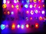 闪光 发光卡通 软胶戒指灯玩具 店庆活动价50个一盒