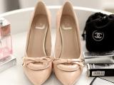 批发秋季新款真皮女鞋韩版 明星同款女鞋 高档尖头高跟鞋女单鞋