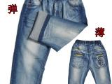 中大童男童牛仔裤 2015韩版儿童牛仔裤批发 夏季童装男裤大童裤