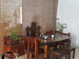 老船木实木家具定制功夫茶台阳台小茶桌简约现代茶水柜