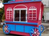防腐木售货车实木质奶茶屋活动房景区售卖亭移动摆摊位小吃手推车