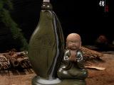 德化厂家复古茶具茶宠香道香炉 陶瓷香器倒流香炉 荷韵小僧批发