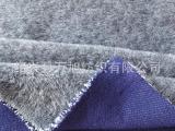 厂家直销 2014新款牛仔双层加厚针织毛圈布料 抓绒卫衣面料