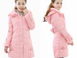 厂家批发代发冬新款正品真羽绒服中长款加厚连帽羽绒服中学生女装