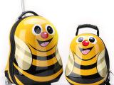 儿童拉杆箱可爱小蜜蜂旅行箱瓢虫书包卡通行李子母箱男女背包