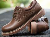 厂家批发骆驼王正品男士休闲鞋 牛皮男鞋  大头工装鞋 真皮男皮鞋