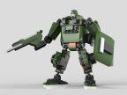 星钻81513 正版积变战士 齿轮机器人 齿轮乐高式积木 拼装玩具