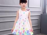 童装批发厂家直销 地摊货源 夏季女孩拼接公主连衣裙