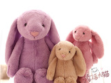 可爱邦尼兔子公仔 薰衣草长耳朵小兔毛绒玩具布娃娃6.1儿童节礼物