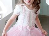 女童夏款连衣裙 韩版童装公主裙 外贸纯棉童装短袖连衣裙批发